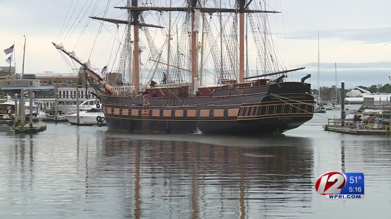 Oliver Hazard Perry tall ship will travel to Newport