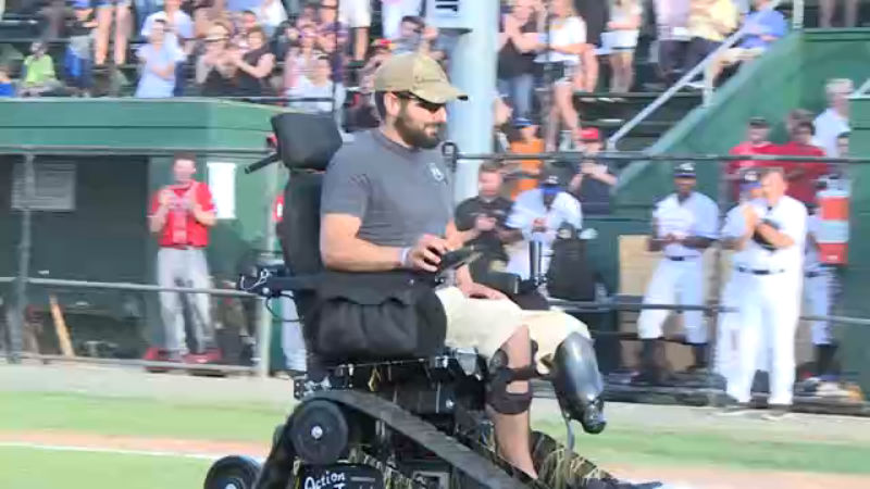 Amy Veteran Brandon Deaton recieves life-changing wheelchair