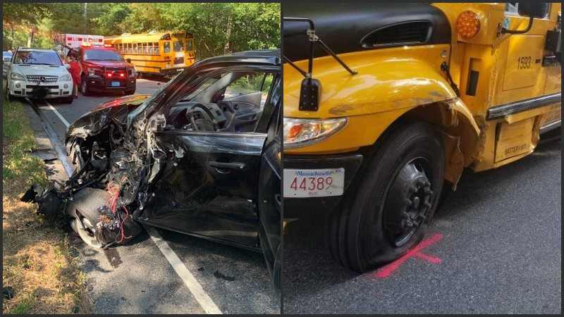 School bus involved in Dartmouth crash | WPRI com