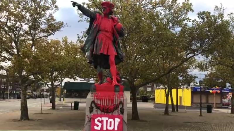 Elorza not opposed to moving Columbus statue after vandalism