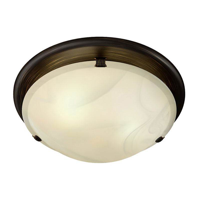 decorative oil rubbed bronze fan light with ivory alabaster glass