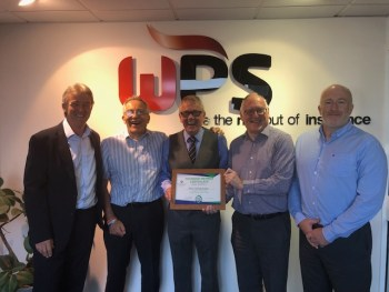 WPS directors being presented with a plaque from Improving Lives Plymouth as part of their 110 Club Founders programme.