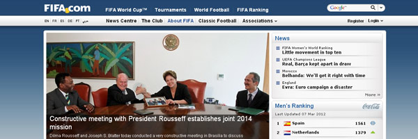 football web design ideas