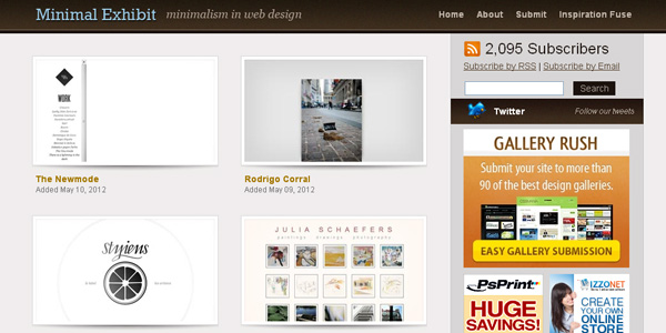 minimalism css gallery