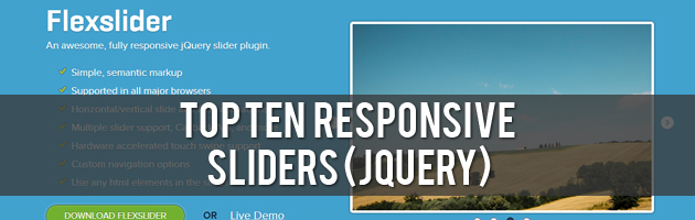 Top Ten Responsive Sliders (jQuery)