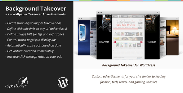 WP Background Takeover Plugin by WPSite