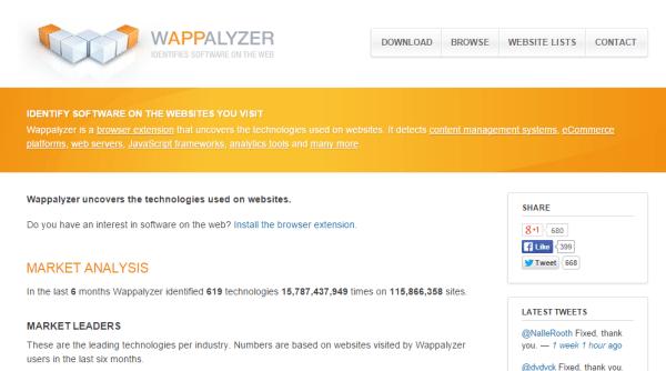 Wappalyzer - What Platform a Site is Running