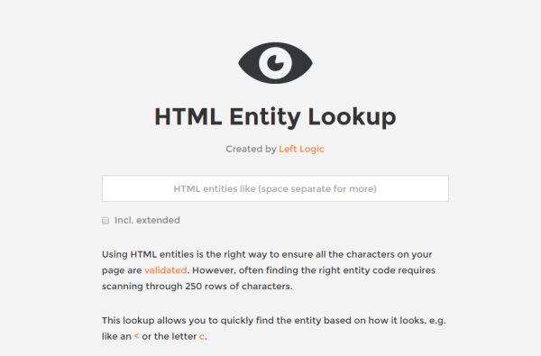 Entity Lookup - top websites for developers