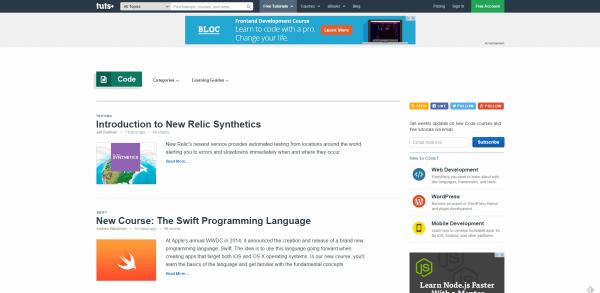 Tuts  Free Code Tutorials - top websites for developers