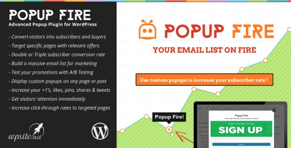 Popup Fire WordPress Plugin