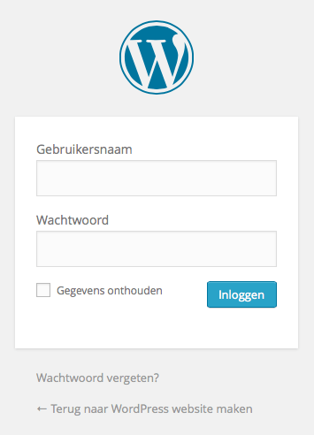 wp_login_scherm