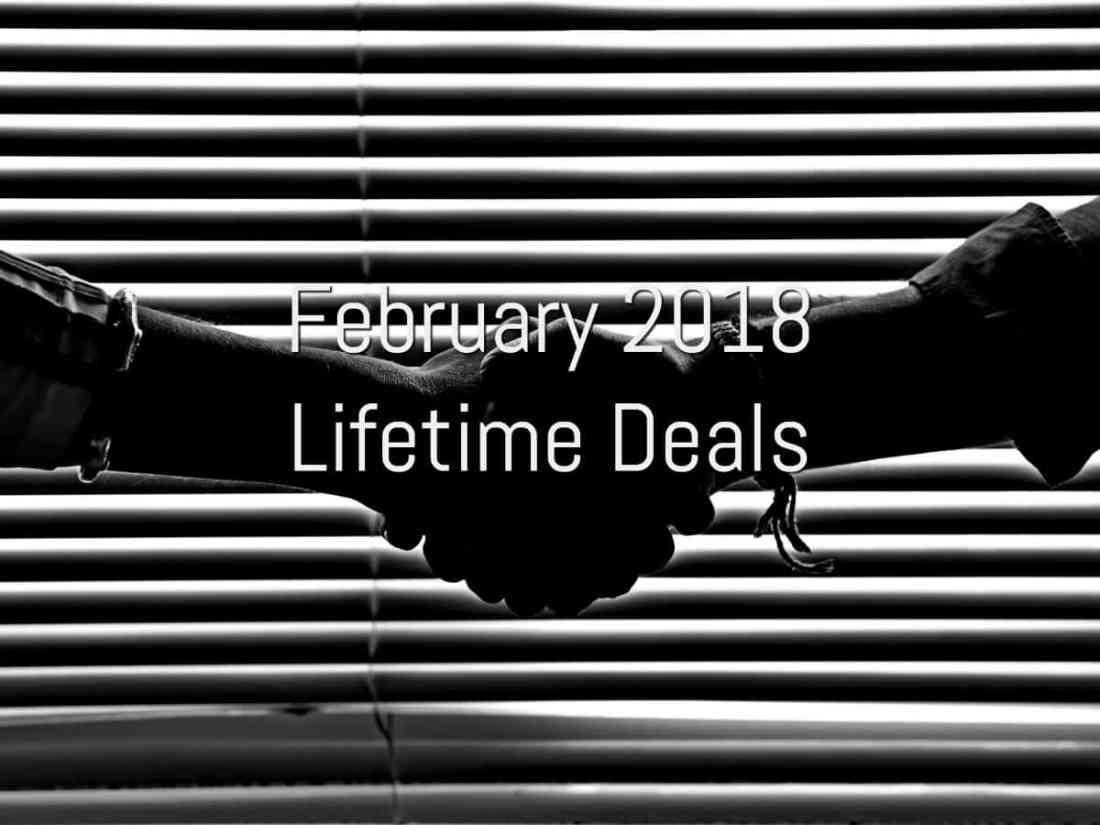 February 2018 Lifetime Deals