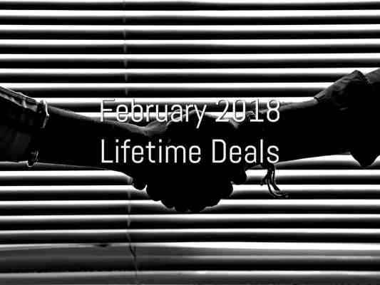 February 2018 Lifetime Deals