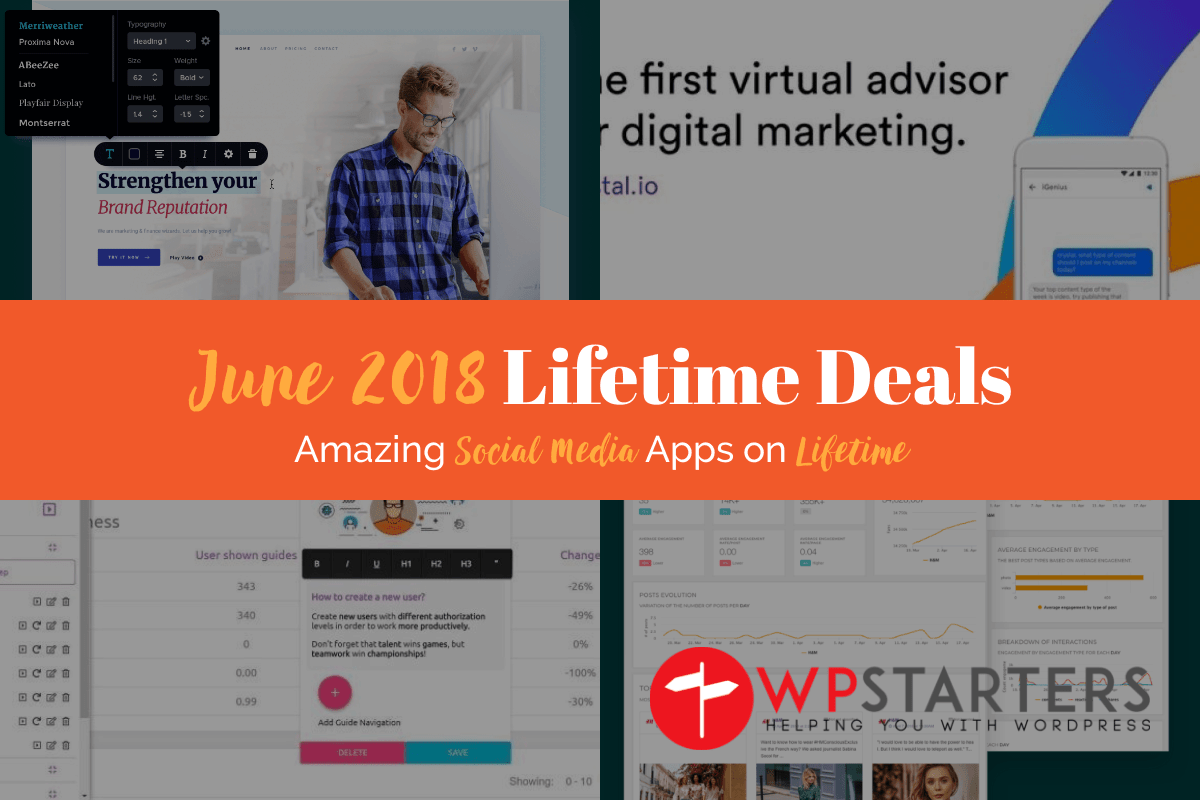 June 2018 Lifetime Deals: Social Media Paradise