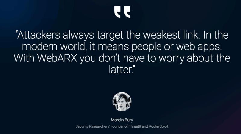WebARX Testimonial