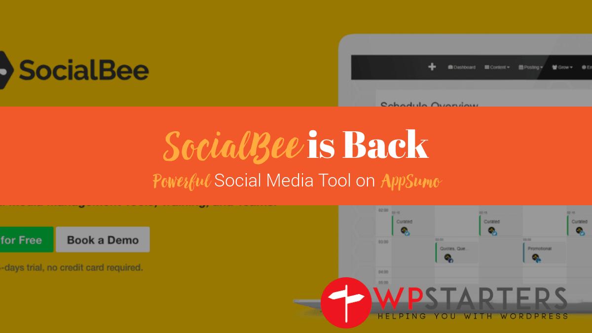 SocialBee Back on AppSumo