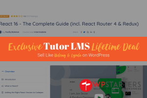 Exclusive Tutor LMS Lifetime Deal