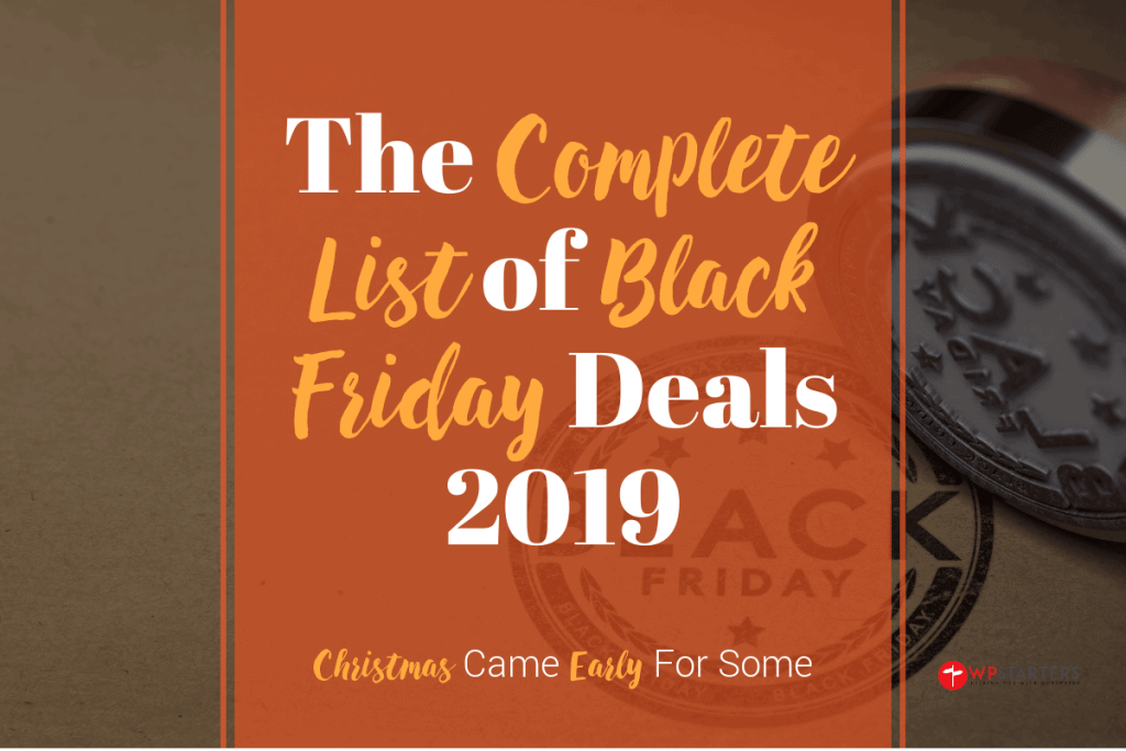 complete list of black friday deals 2019
