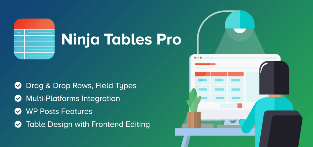 Ninja Tables Pro is the best Premium WordPress Tables plugin we've encountered
