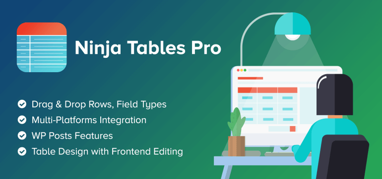 Ninja Tables Pro is one of the best WordPress tables plugin. And it is on lifetime