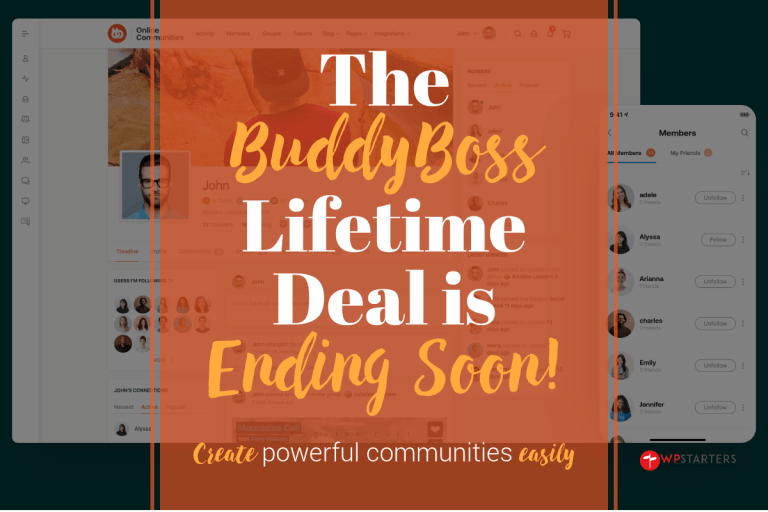 BuddyBoss Lifetime Deal Ending Soon