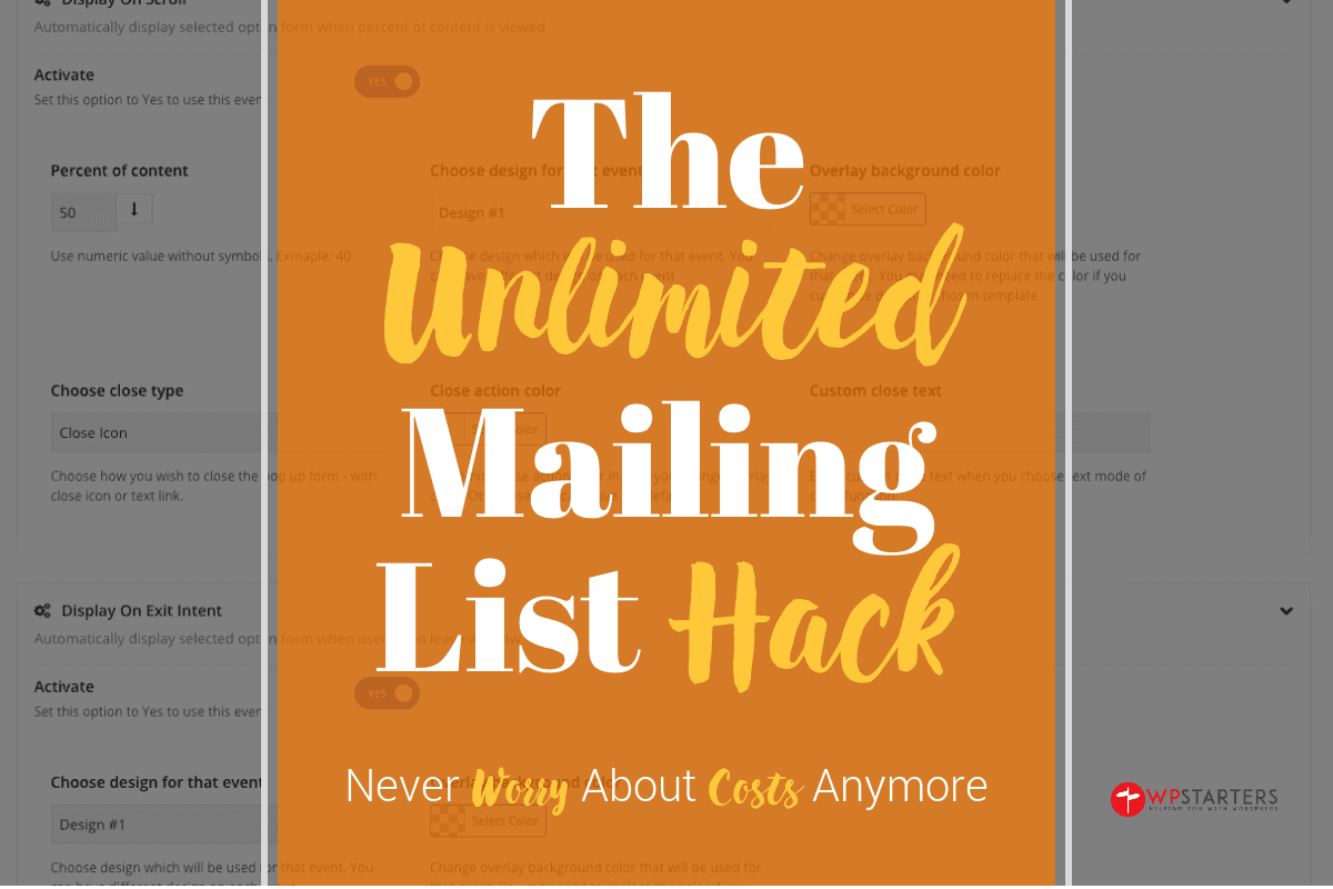 The Unlimited Mailing List Hack for WordPress