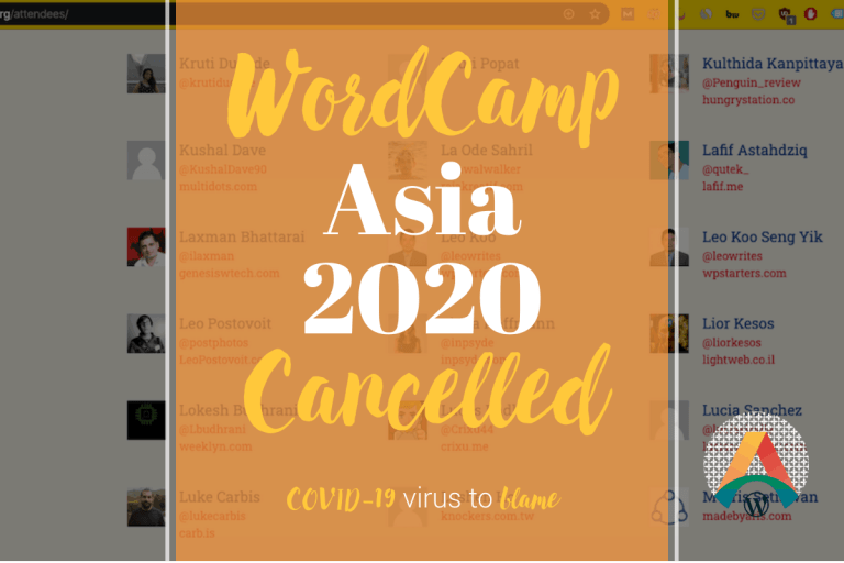 WordCamp Asia 2020 Cancelled