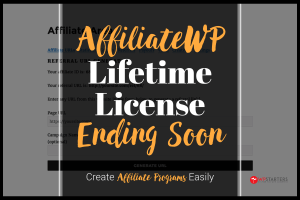 affiliatewp lifetime license is ending soon