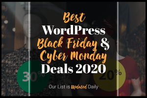 Best WordPress Black Friay Cyber Monday Deals 2020