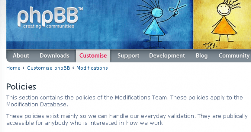 Clear Policies Related To Mod Validation For phpBB3