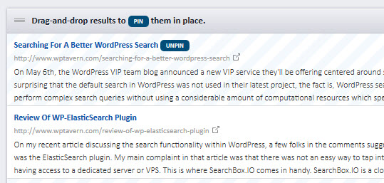 Manipulate Search Results