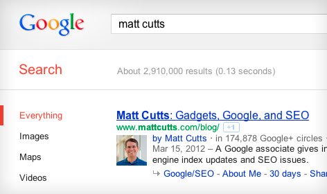 Google authorship in action