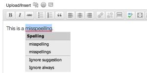 Jetpack Spelling and Grammer
