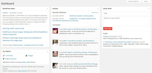 Removed, Merged, And Revamped Dashboard Widgets