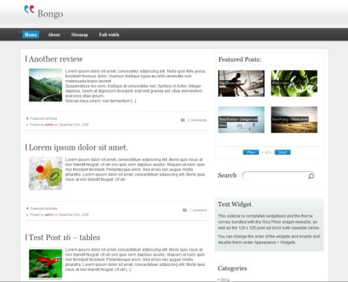 Bongo-WordPress-Theme