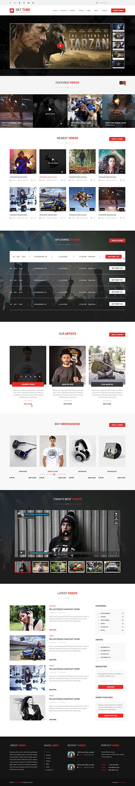 Video Tube WordPress theme