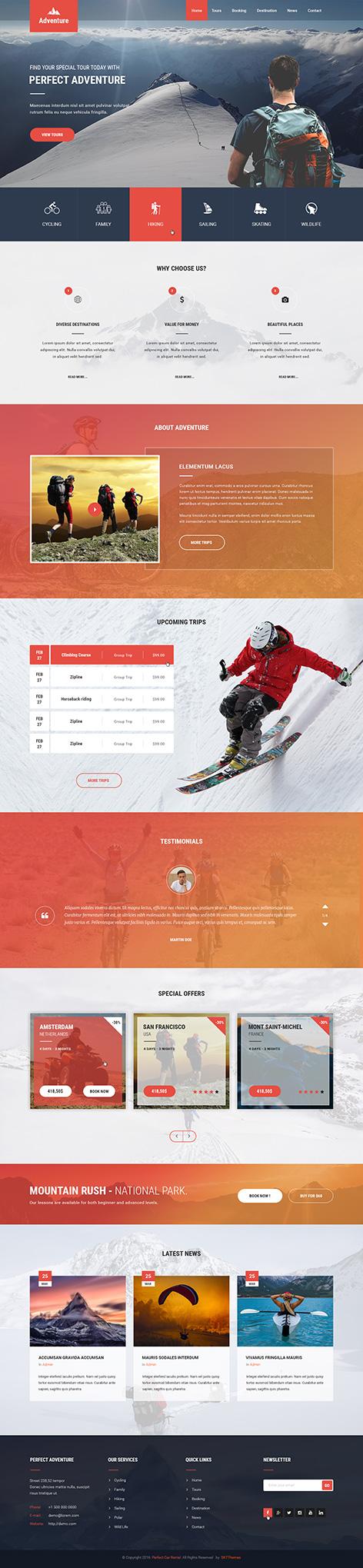 adventure WordPress theme