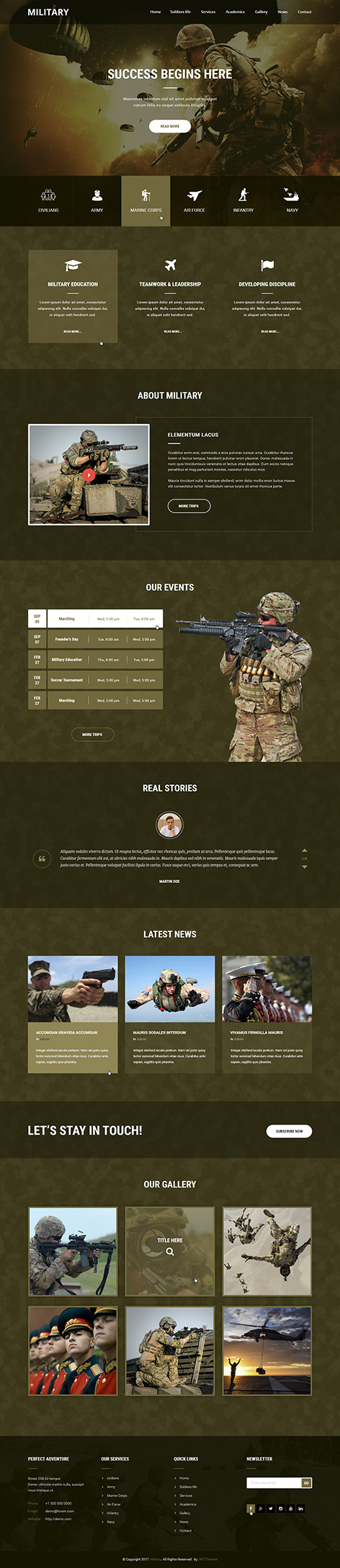 military WordPress theme