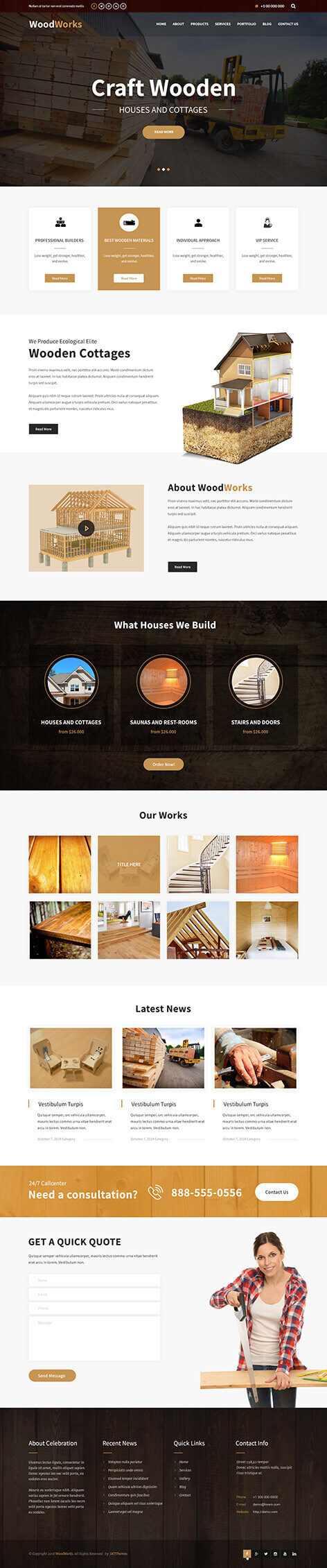woodworks WordPress theme