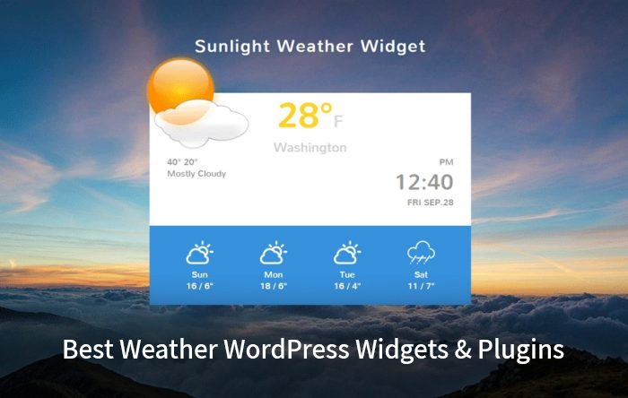 Best Weather WordPress Widgets And Plugins