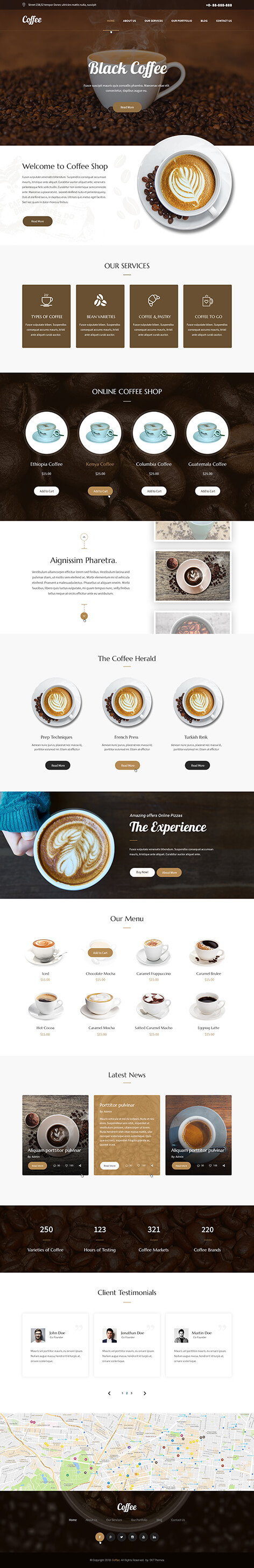 coffee shop WordPress theme