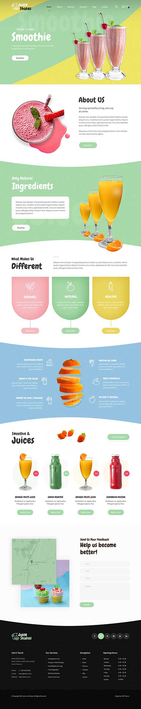 juice bar WordPress theme