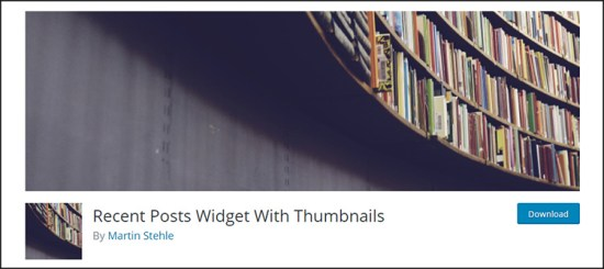 Recent Posts Widget with Thumbnails