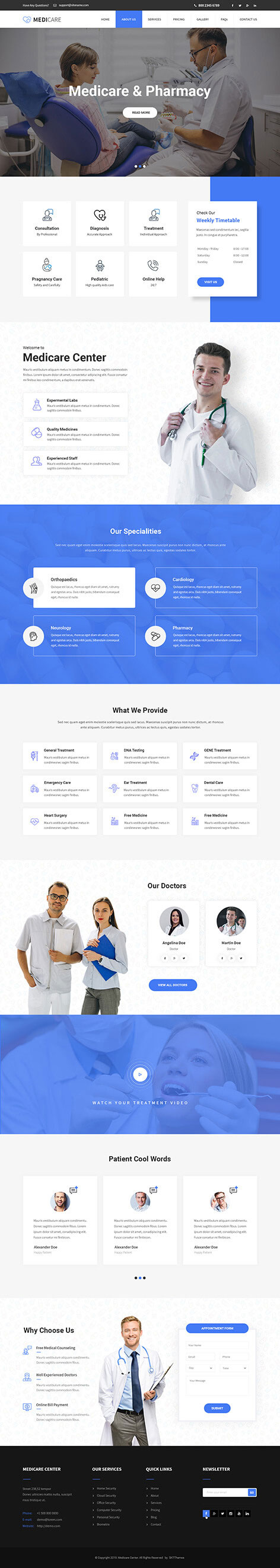 Physiotherapy WordPress theme