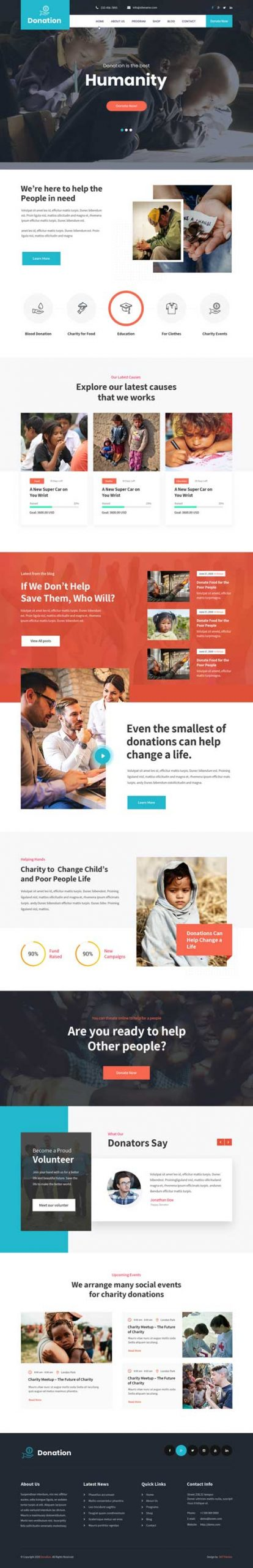 donation WordPress theme