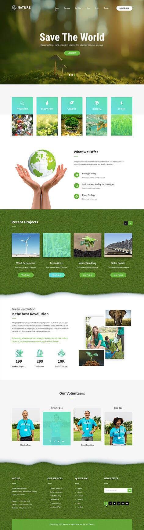organic life WordPress theme