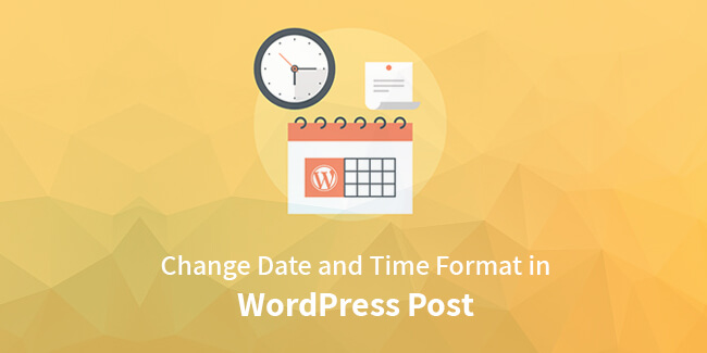change date format in WordPress post