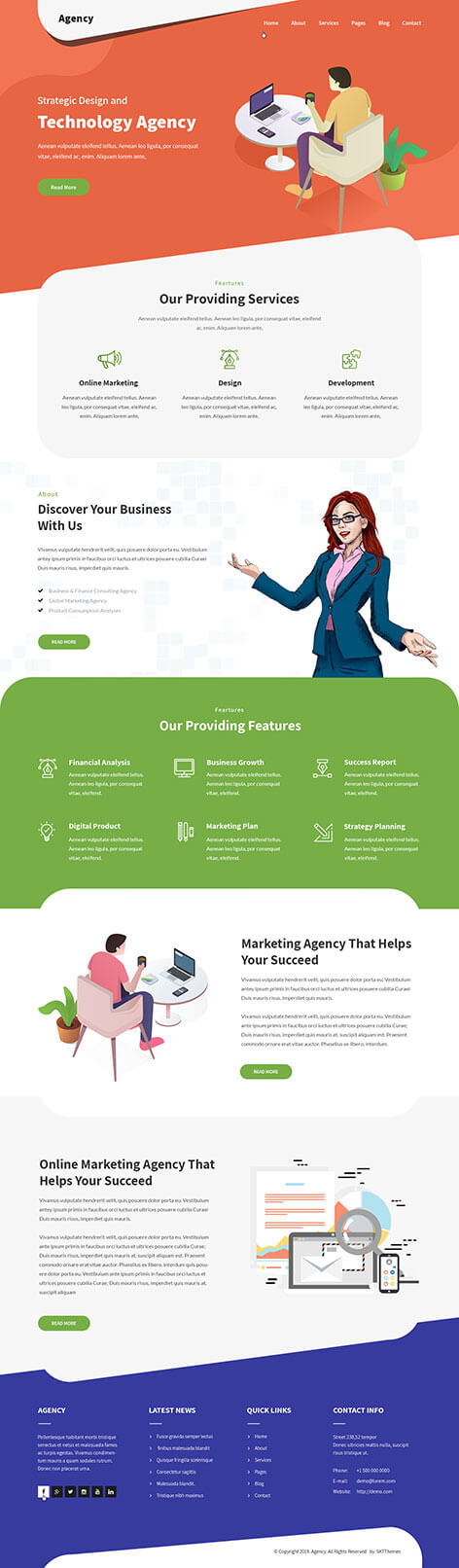 corporation WordPress theme
