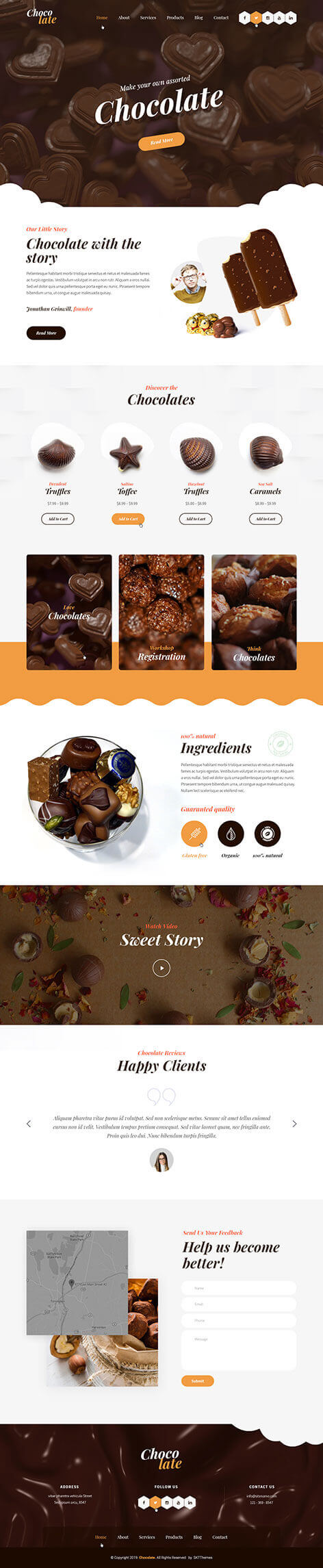 candy shop WordPress theme