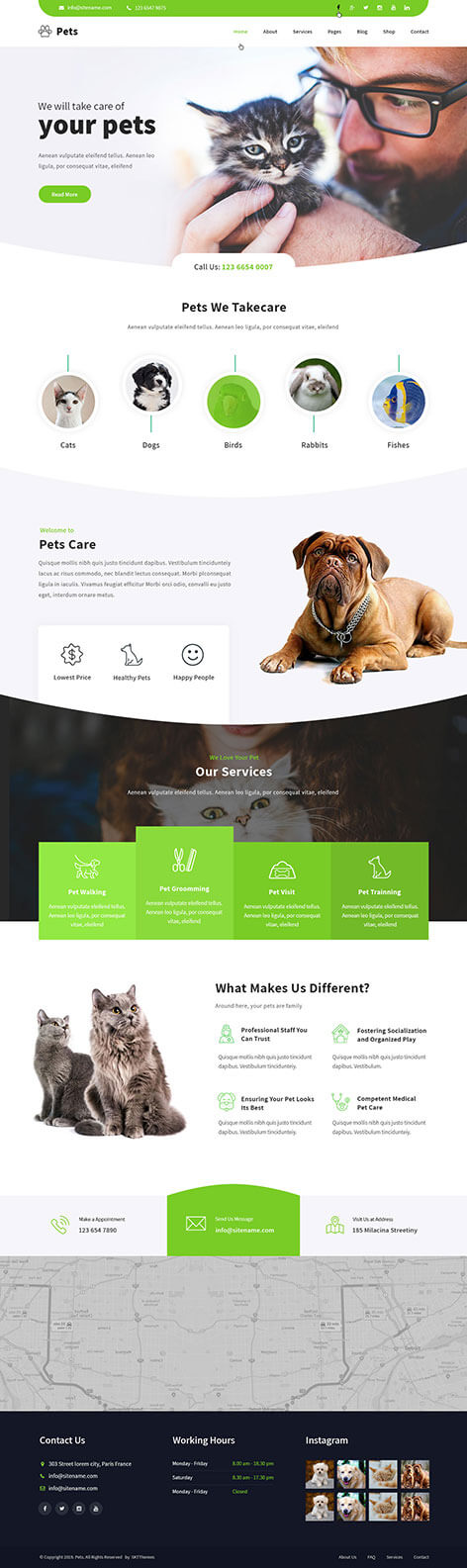 animal clinic WordPress theme